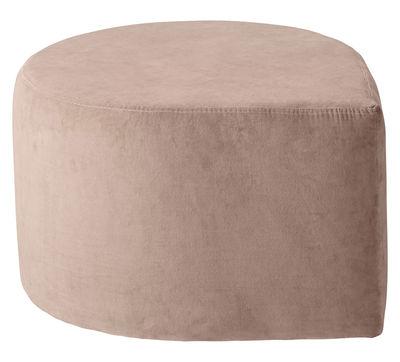 pouf stilla velours rose poudr aytm. Black Bedroom Furniture Sets. Home Design Ideas