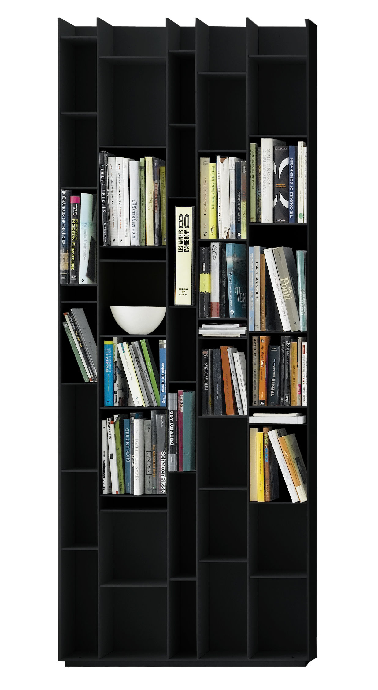 Wonderful image of Home > Furniture > Shelves & bookcases > Random Bookcase by MDF  with #9B6A30 color and 1236x2256 pixels