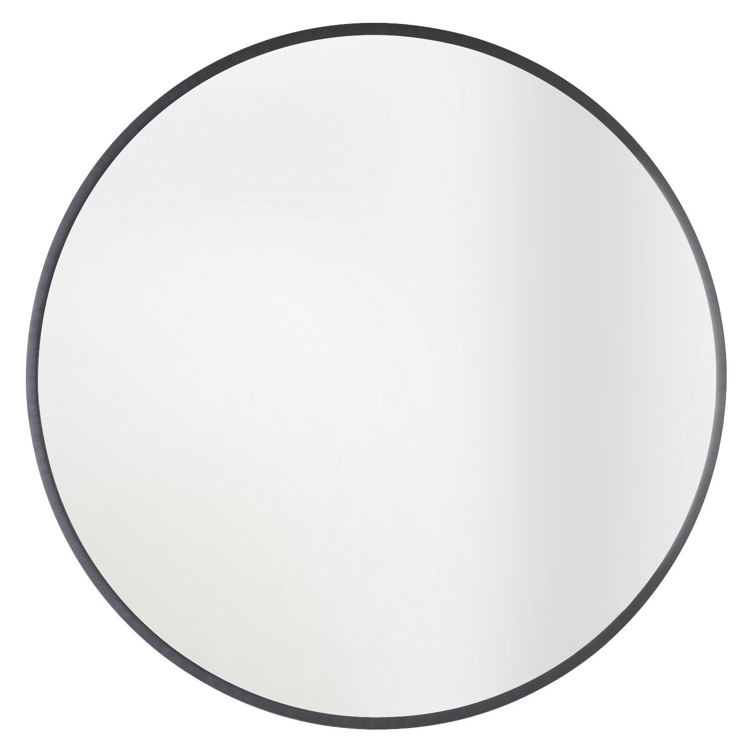 Hub mirror 91 cm black by umbra for Miroir umbra
