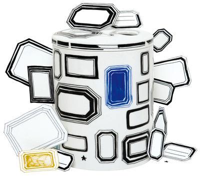 Foto Scatola Surface 01 - Coll print di Domestic - Bianco,Blu,Nero - Ceramica