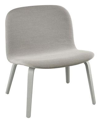 Foto Poltrona bassa Visu - / Versione tessuto - Seduta H 35 cm di Muuto - Grigio chiaro - Tessuto