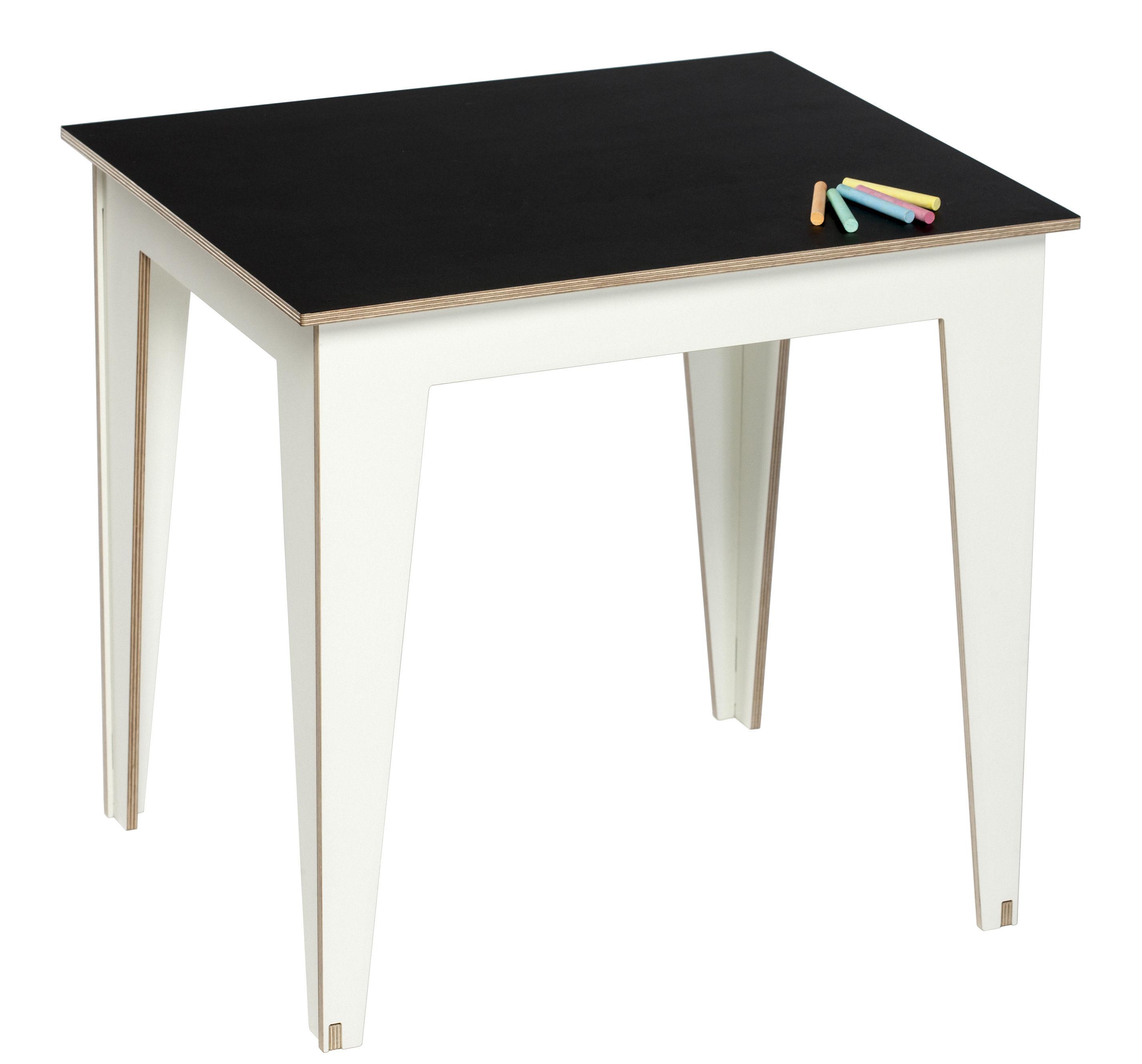 table enfant kidiki plateau ardoise ardoise noire pieds blancs kirigami design. Black Bedroom Furniture Sets. Home Design Ideas