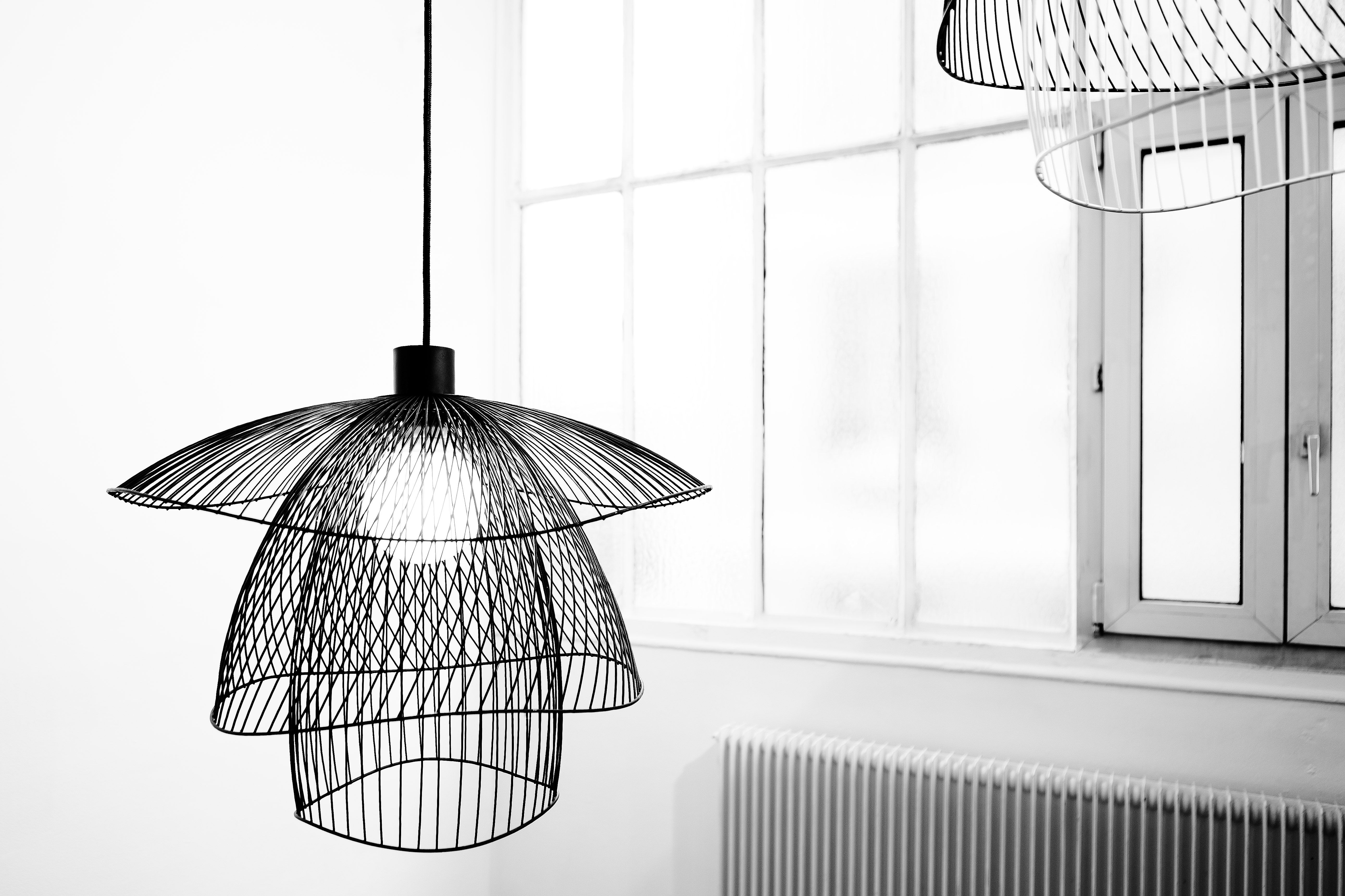 suspension papillon small 56 cm noir forestier. Black Bedroom Furniture Sets. Home Design Ideas
