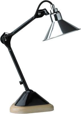 Foto Lampada da tavolo N°207 Cybèle di DCW éditions - Lampes Gras - Nero,Cromato,Legno - Metallo
