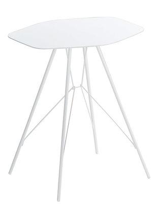 Foto Tavolino d'appoggio Emil di Zanotta - Bianco - Metallo