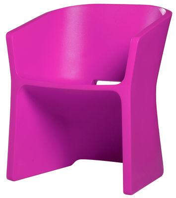 Foto Poltrona Sliced Chair di Qui est Paul ? - Fucsia - Materiale plastico