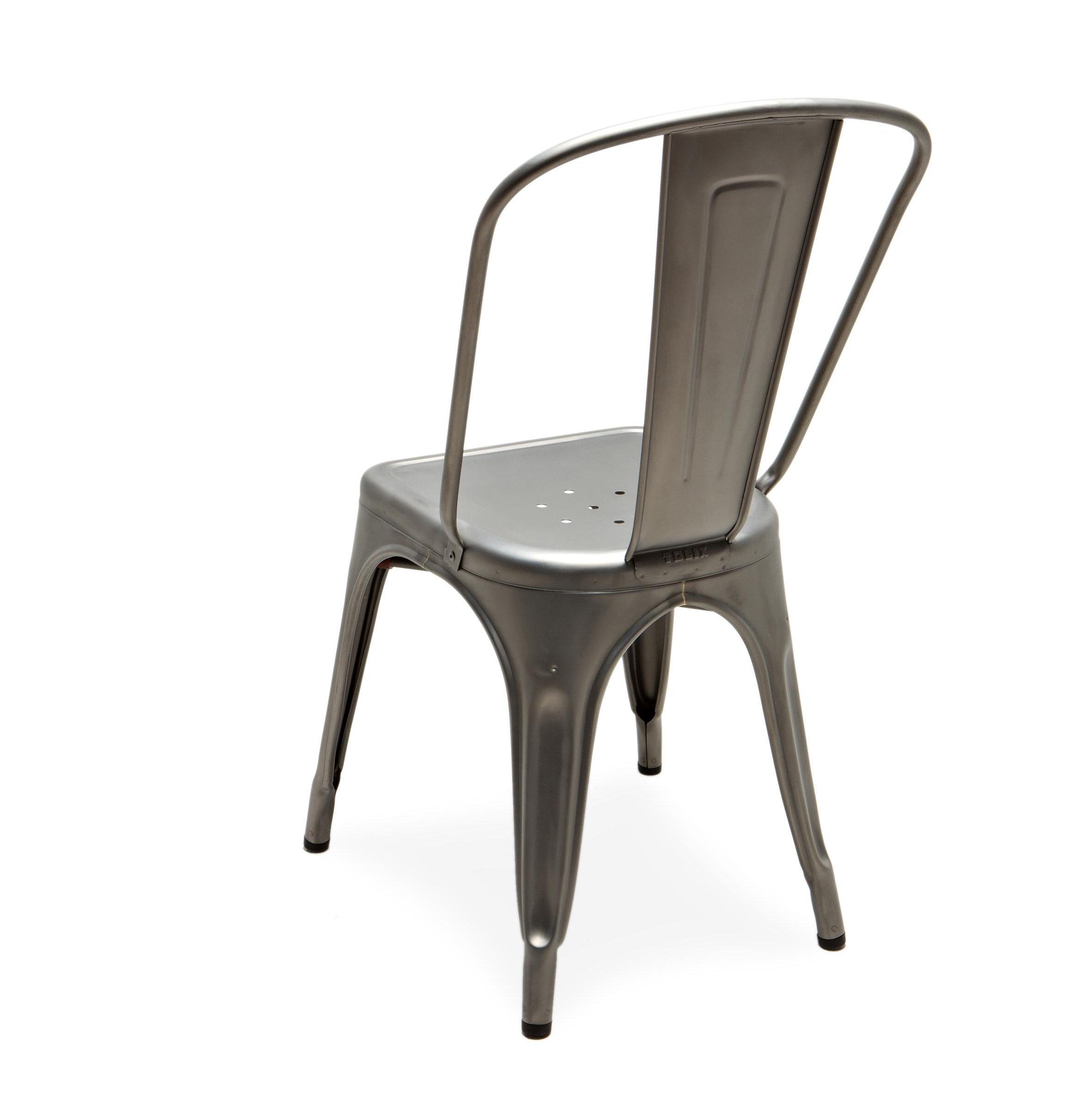 Chaise empilable a acier pour l 39 int rieur tolix acier satin mat ebay - Chaise industrielle tolix ...