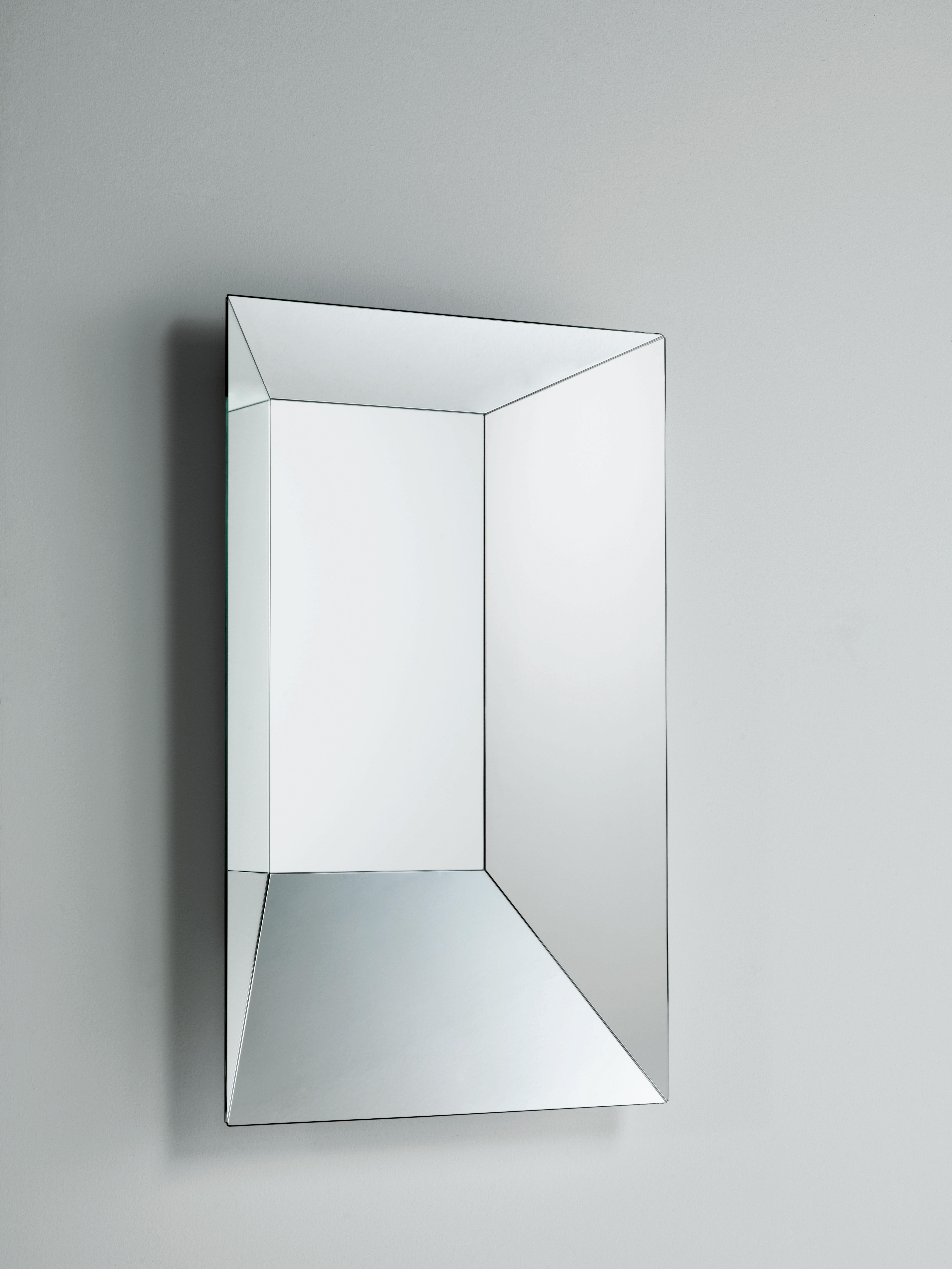Miroir leon battista 50 x h 70 cm 50 x 70 cm glas italia for Miroir 70 cm
