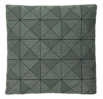 Foto Cuscino Tile / 50 x 50 cm - Muuto - Nero,Verde - Tessuto