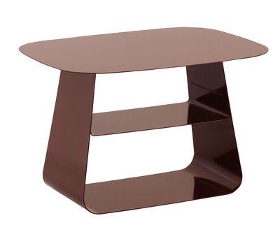 Foto Tavolino Stay / 40 x 52 cm - Normann Copenhagen - Bordeaux - Metallo Tavolino d'appoggio