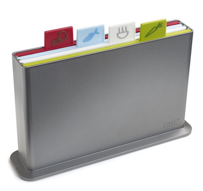 Index Advance Chopping board - / Set of 4 by Joseph Joseph Silver