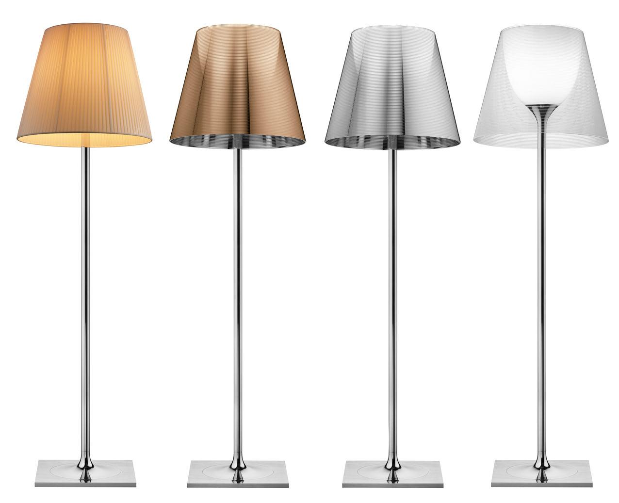 lampadaire k tribe f3 h 183 cm transparent flos. Black Bedroom Furniture Sets. Home Design Ideas