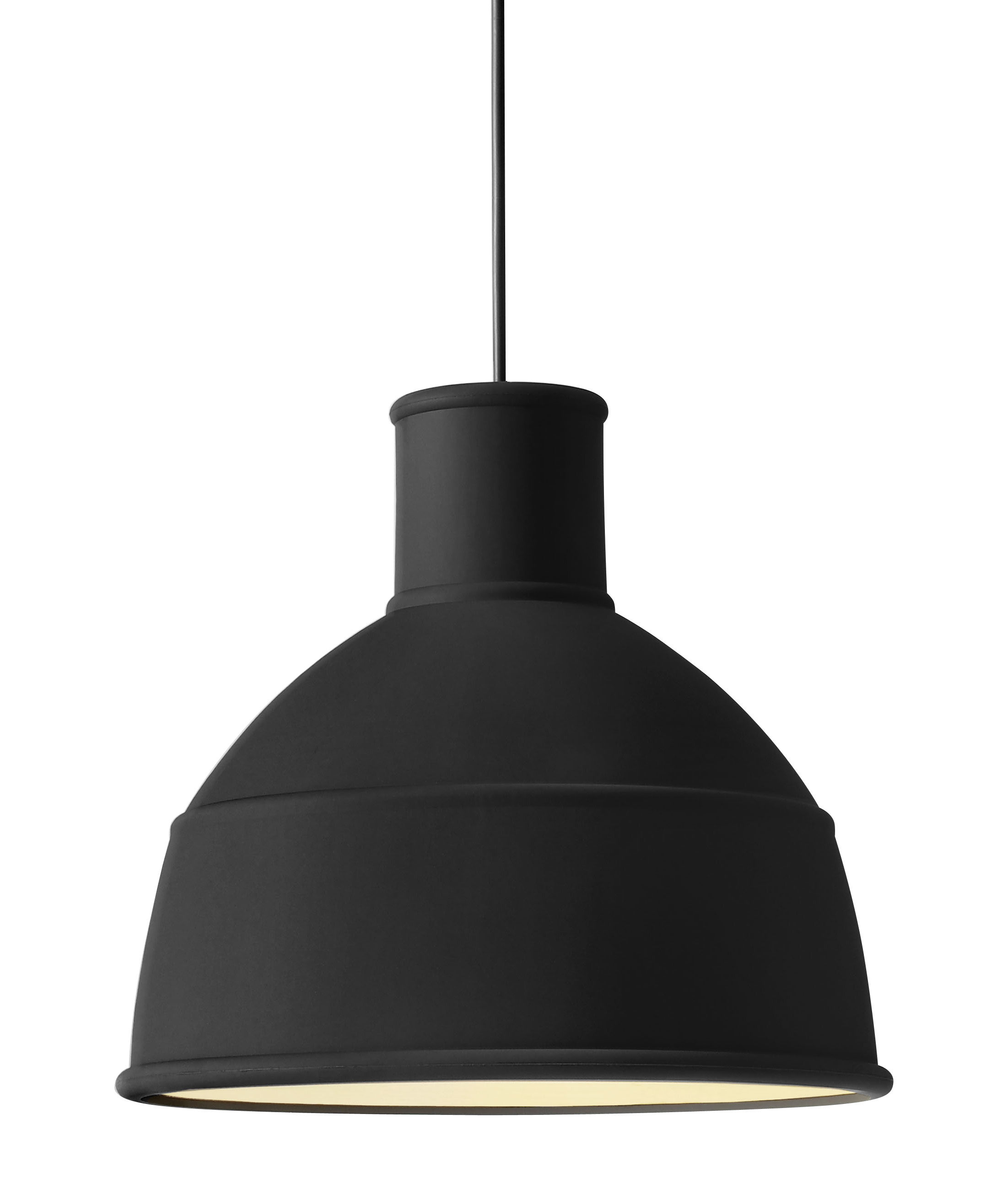 suspension unfold en silicone noir muuto. Black Bedroom Furniture Sets. Home Design Ideas