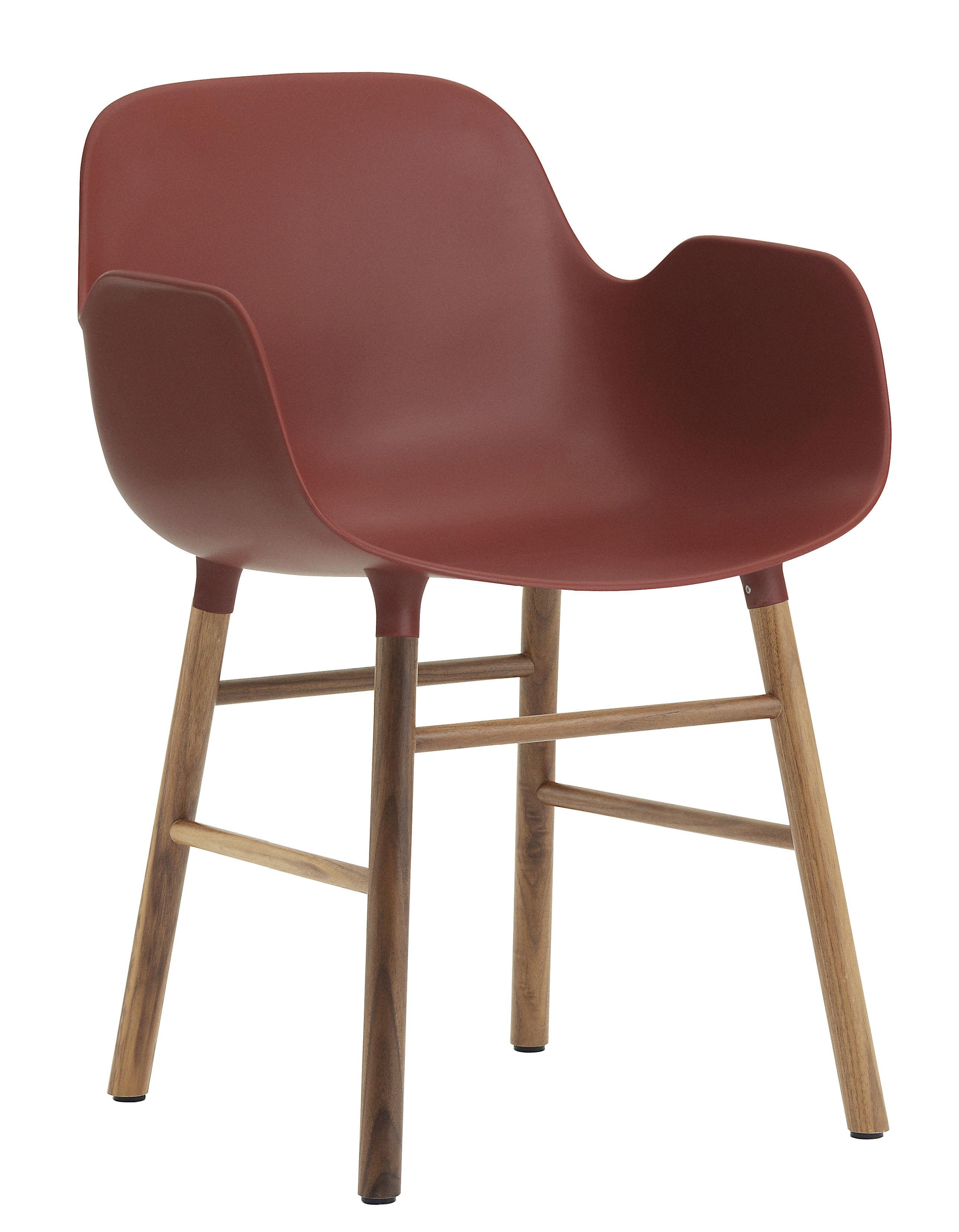 fauteuil form pied noyer rouge noyer normann copenhagen. Black Bedroom Furniture Sets. Home Design Ideas