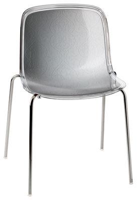 Foto Sedia impilabile Troy - /Seduta in policarbonato di Magis - Bianco,Trasparente - Materiale plastico