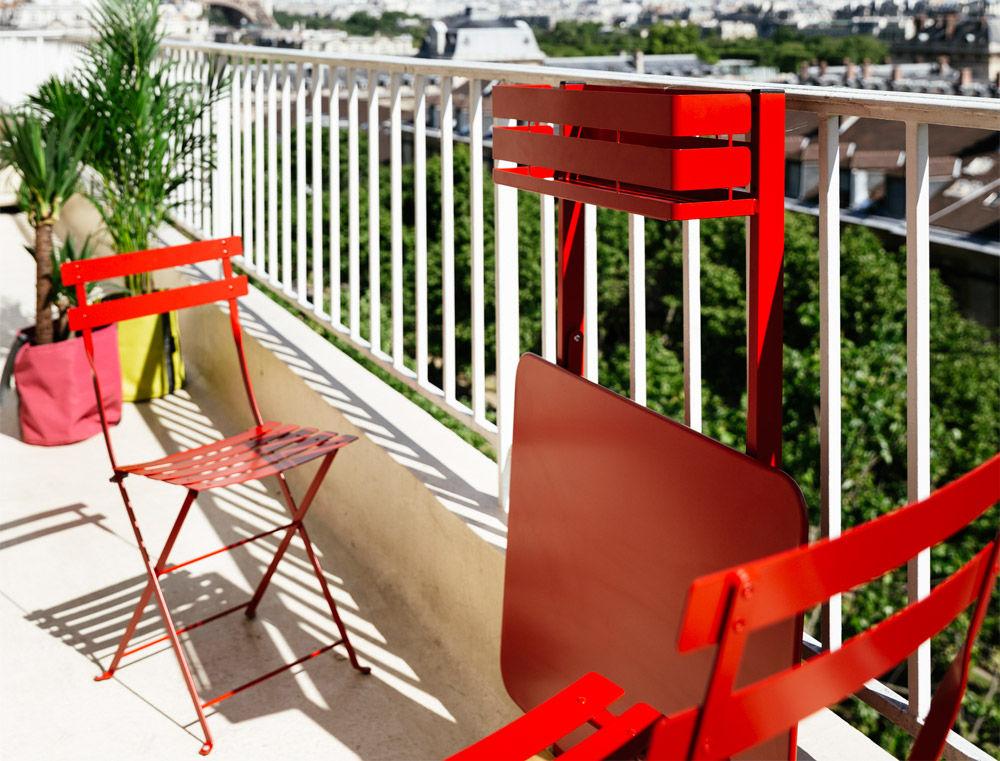 Table pliante balcon bistro rabattable 77 x 64 cm for Table de balcon pliante