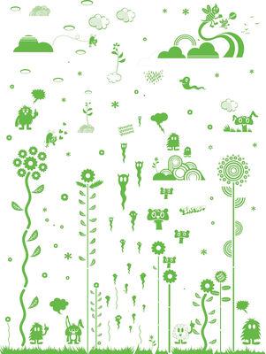 Foto Sticker Mushroom Forest Green di Domestic - Verde - Materiale plastico