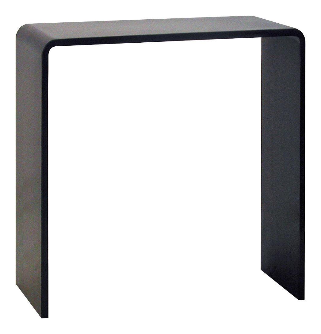 console solitaire l 100 x prof 28 x h 100 cm acier noir h 100 cm zeus. Black Bedroom Furniture Sets. Home Design Ideas