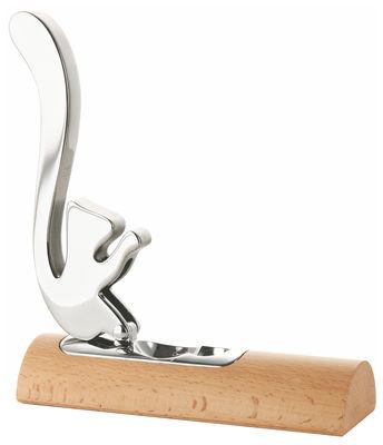 Foto Schiaccianoci Scoiattolo di Alessi - Legno chiaro,Acciaio lucido - Metallo