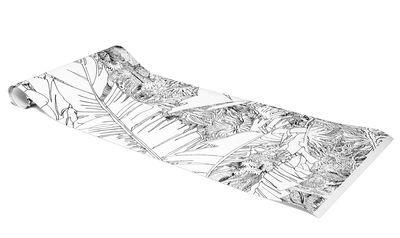 papier peint jungle 1 1 rouleau larg 48 cm noir petite friture. Black Bedroom Furniture Sets. Home Design Ideas