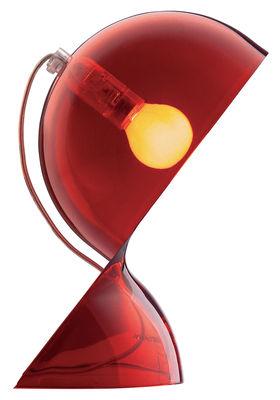 Foto Lampada da tavolo Dalù di Artemide - Rosso trasparente - Materiale plastico