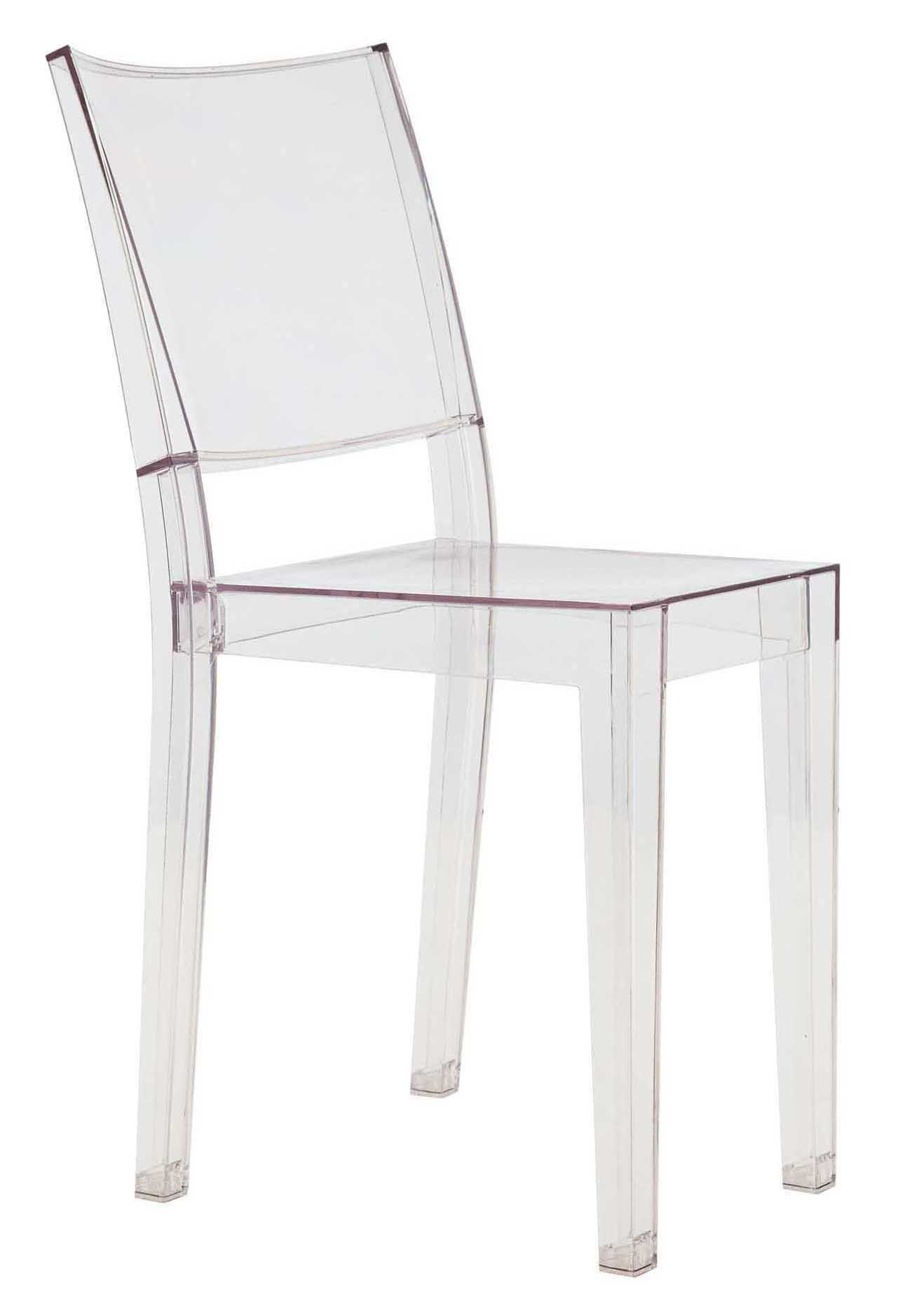 chaise empilable la marie transparente polycarbonate cristal kartell. Black Bedroom Furniture Sets. Home Design Ideas