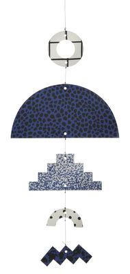 Foto Mobile Elkeland Blue - Ferm Living - Bianco,Blu,Nero - Legno