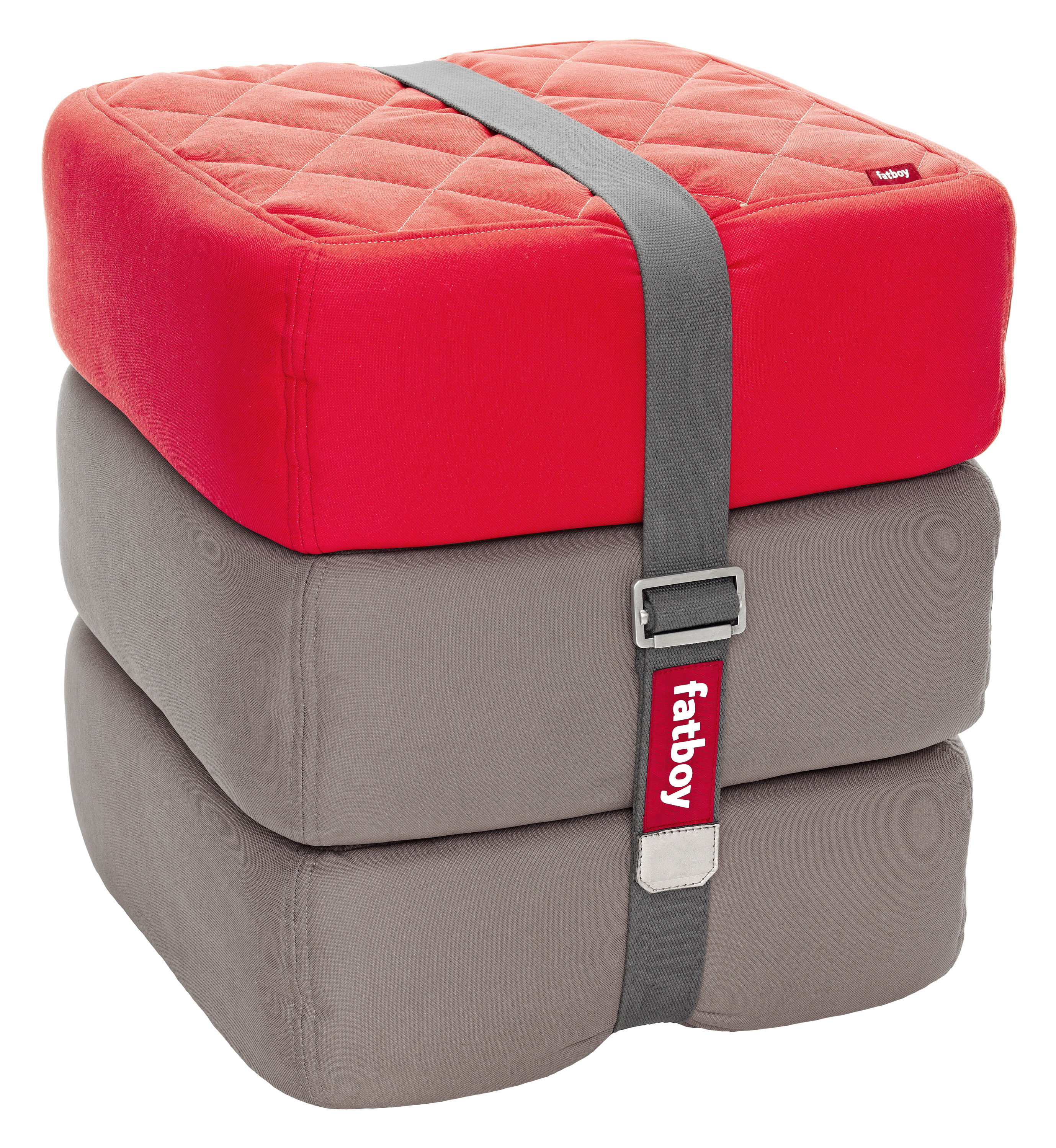 baboesjka pouf set 3 floor cushions red taupe by fatboy. Black Bedroom Furniture Sets. Home Design Ideas