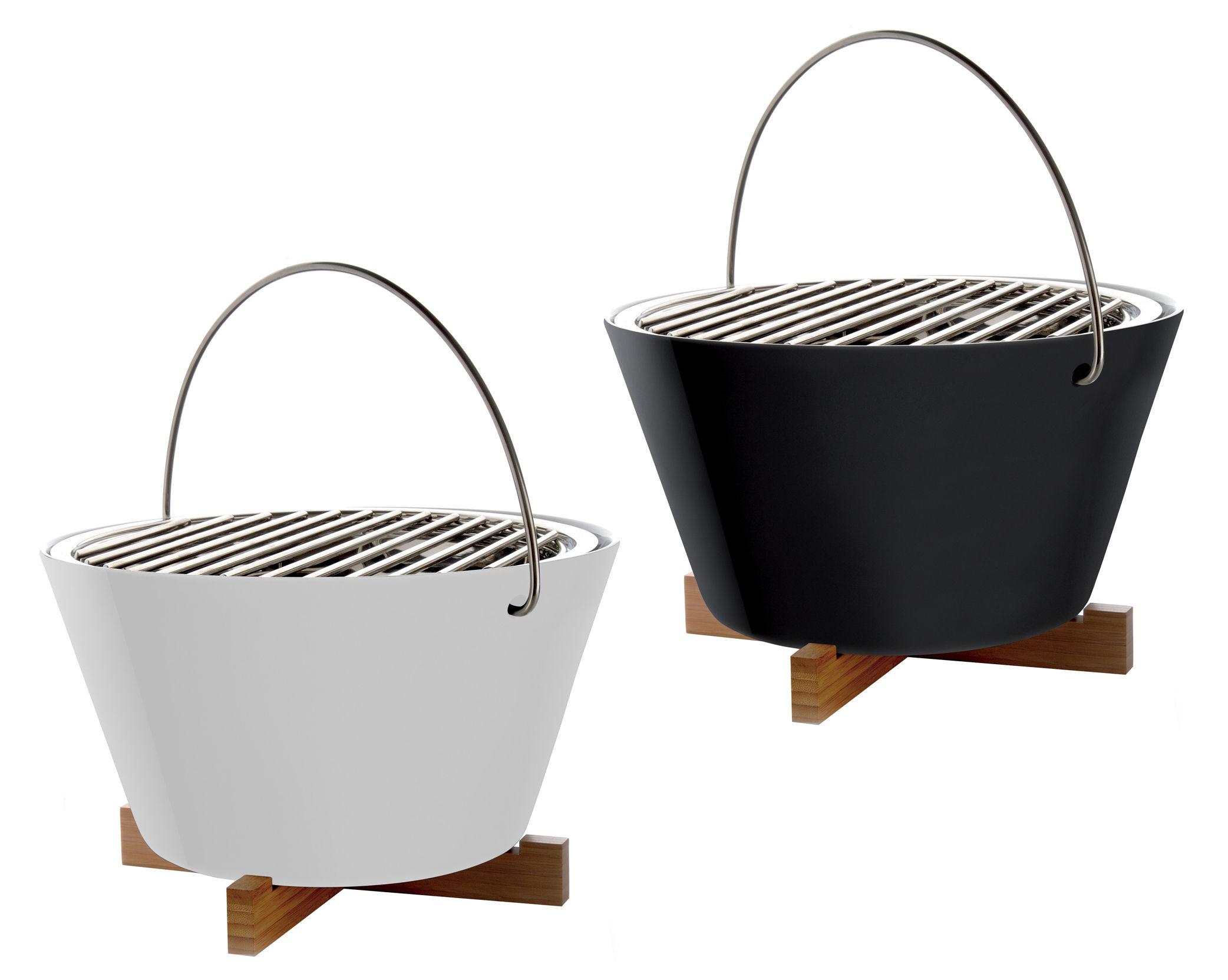 Scopri barbecue barbecue da tavolo bianco di eva solo made in design italia - Barbecue a gas da tavolo ...