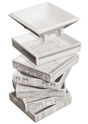 Foto Servizio di piatti Palace Palazzo Governo - / 6 piatti fondi + 1 zuppiera impilabile di Seletti - Bianco - Ceramica