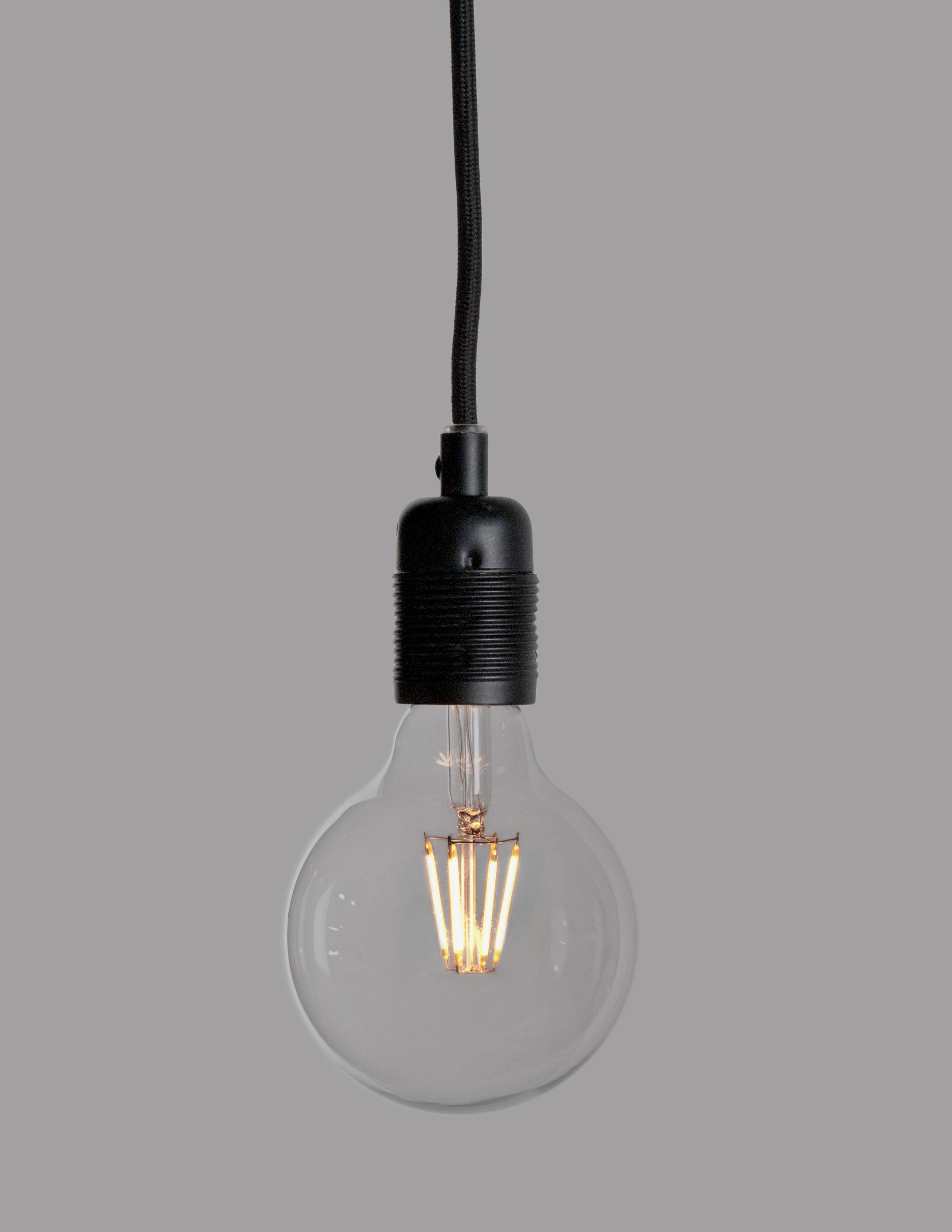 g95 ampoule led filaments e27 6w transparent gold by pop corn. Black Bedroom Furniture Sets. Home Design Ideas