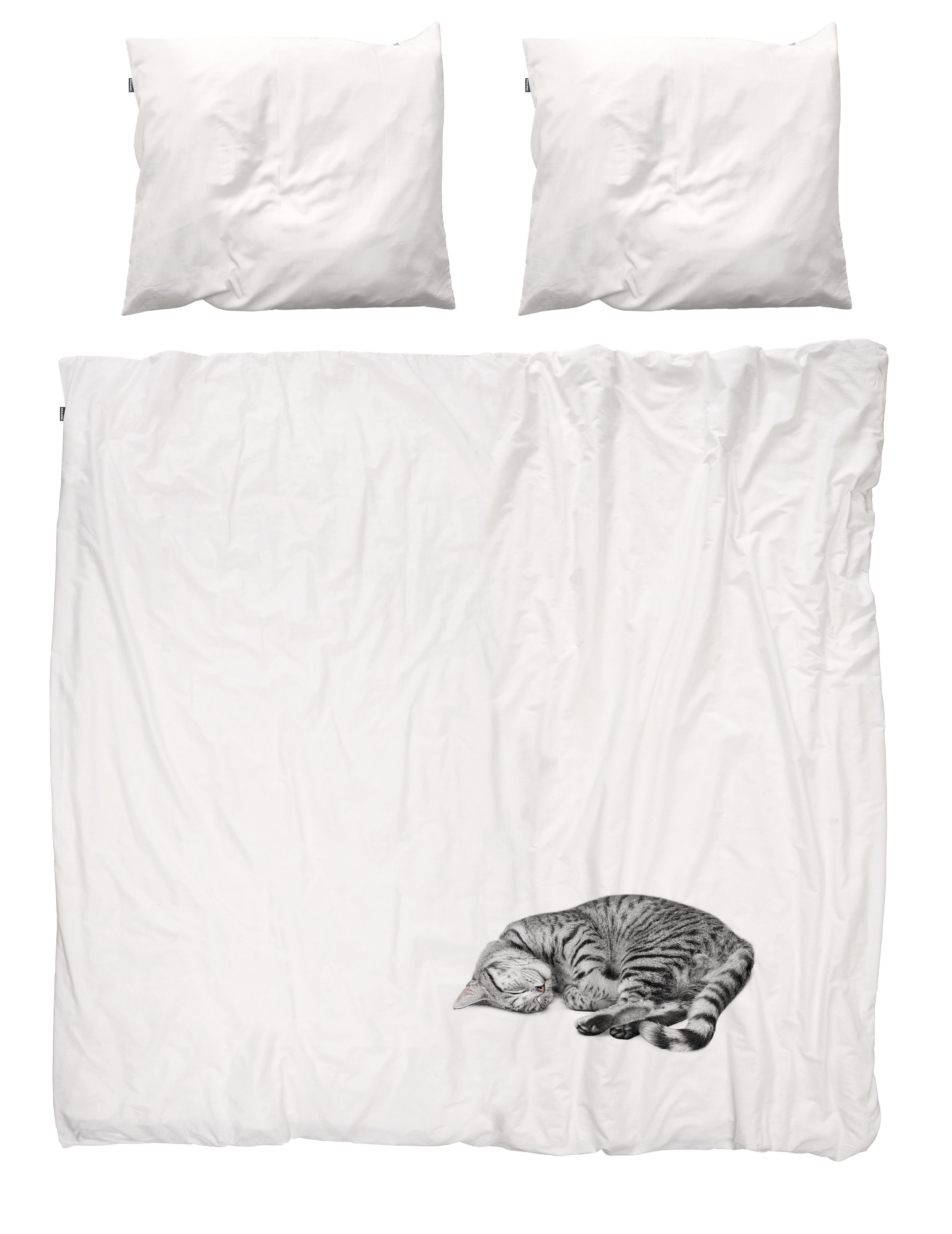 parure de lit 2 personnes ollie 240 x 220 cm chat gris. Black Bedroom Furniture Sets. Home Design Ideas