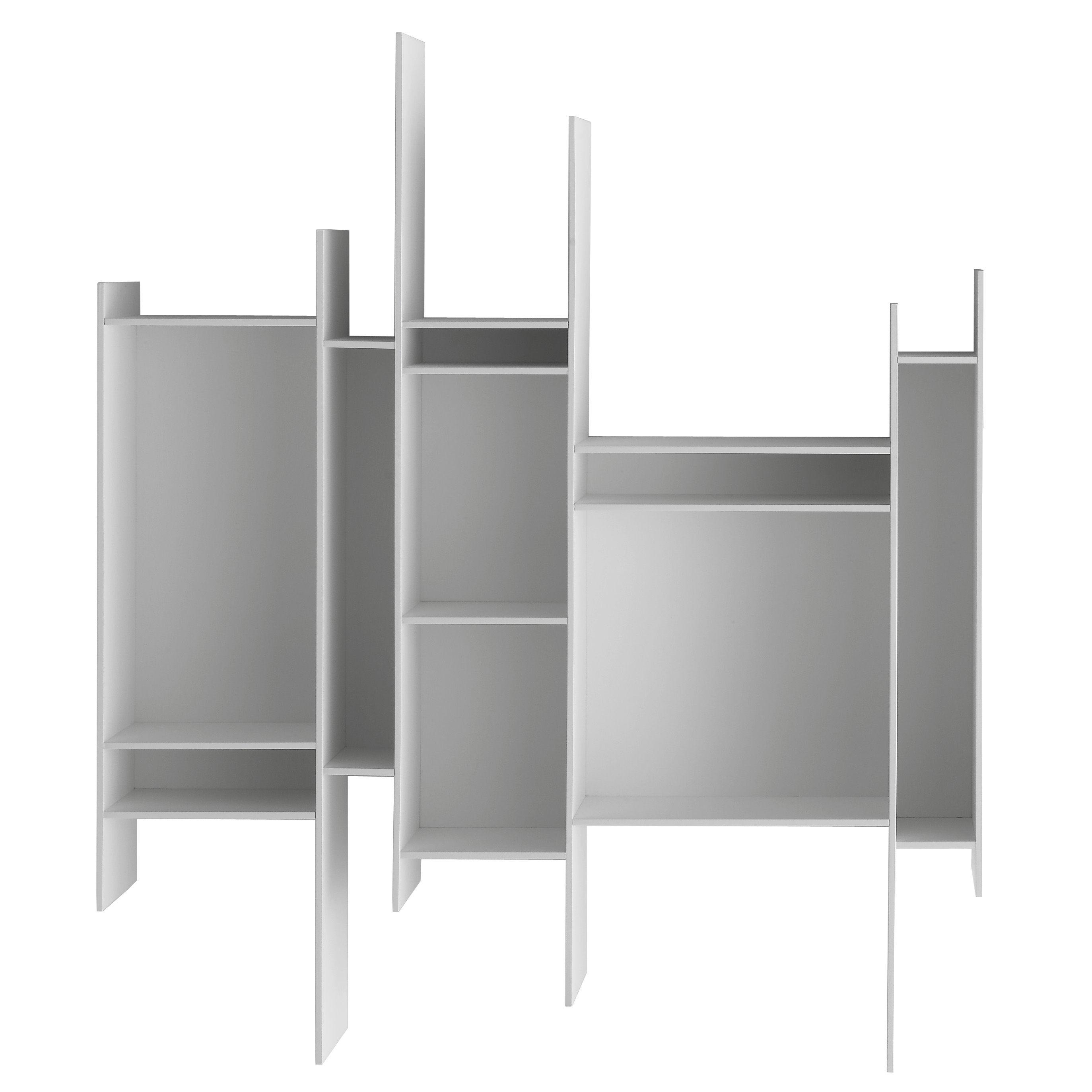 randomito shelf l 81 x h 96 cm white lacquered by mdf italia. Black Bedroom Furniture Sets. Home Design Ideas