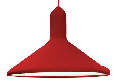 Suspension Torch Light / forme cônique - Ø 30 cm - Established & Sons Rouge en Matière plastique