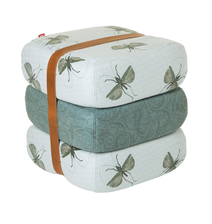Baboesjka Pouf 3 floor cushions & leather belt Outdoor