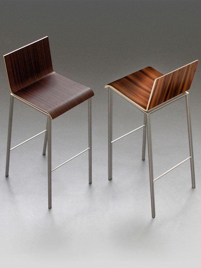 Chaise de bar bianco bois h 64 cm palissandre pieds for Chaise 64 cm