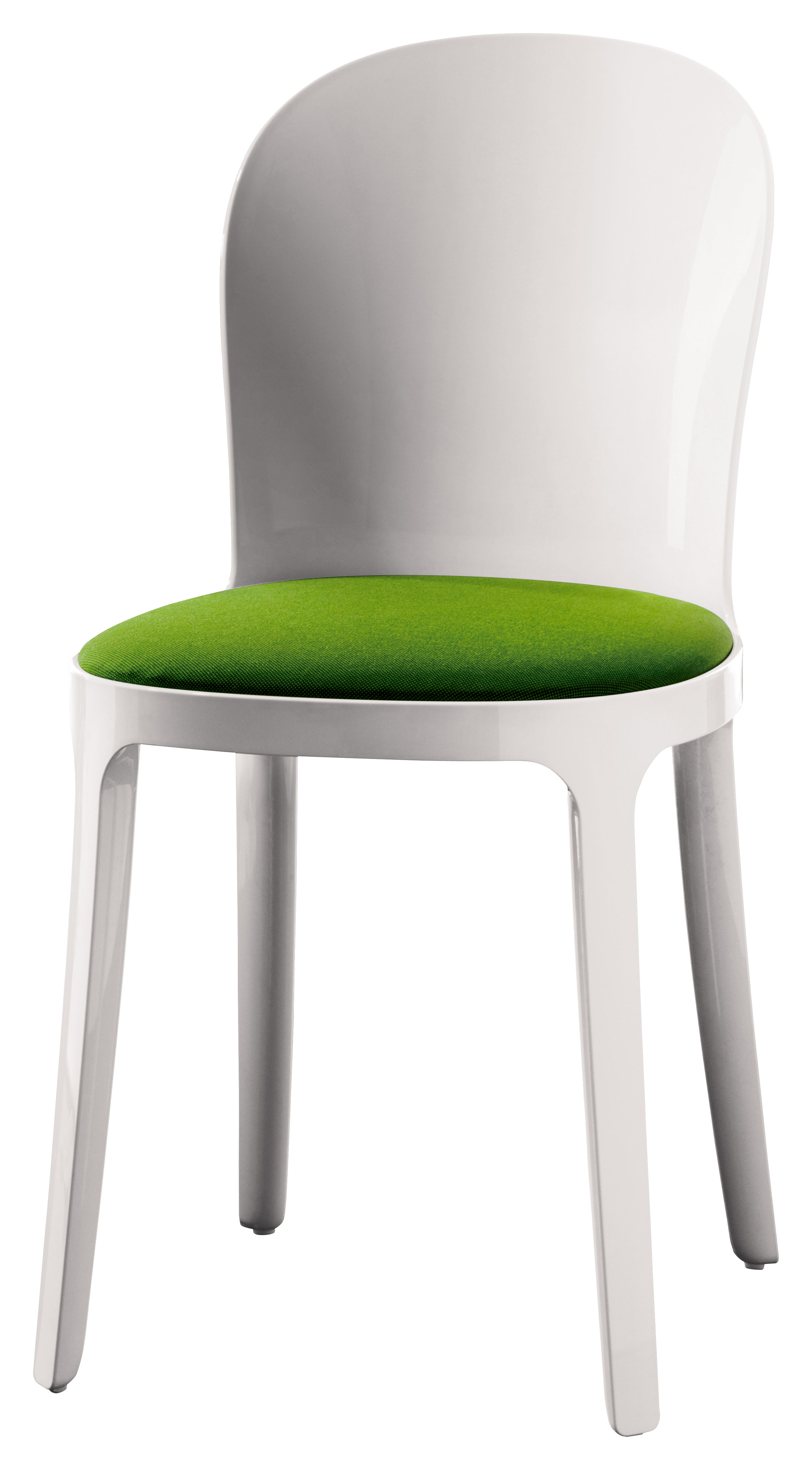 Vanity Chair Chair Opaque White Structure Opaque White Green By Magis
