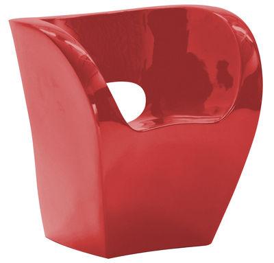 Poltrona Little Albert - versione laccata di Moroso - Rosso laccato - Materiale plastico