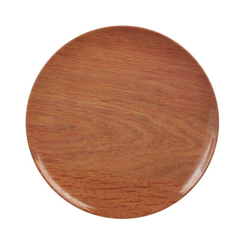 bois plate set of 3 melamine brown by klevering