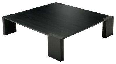 Table basse ironwood acier phosphat noir bois zeus for Table basse acier noir