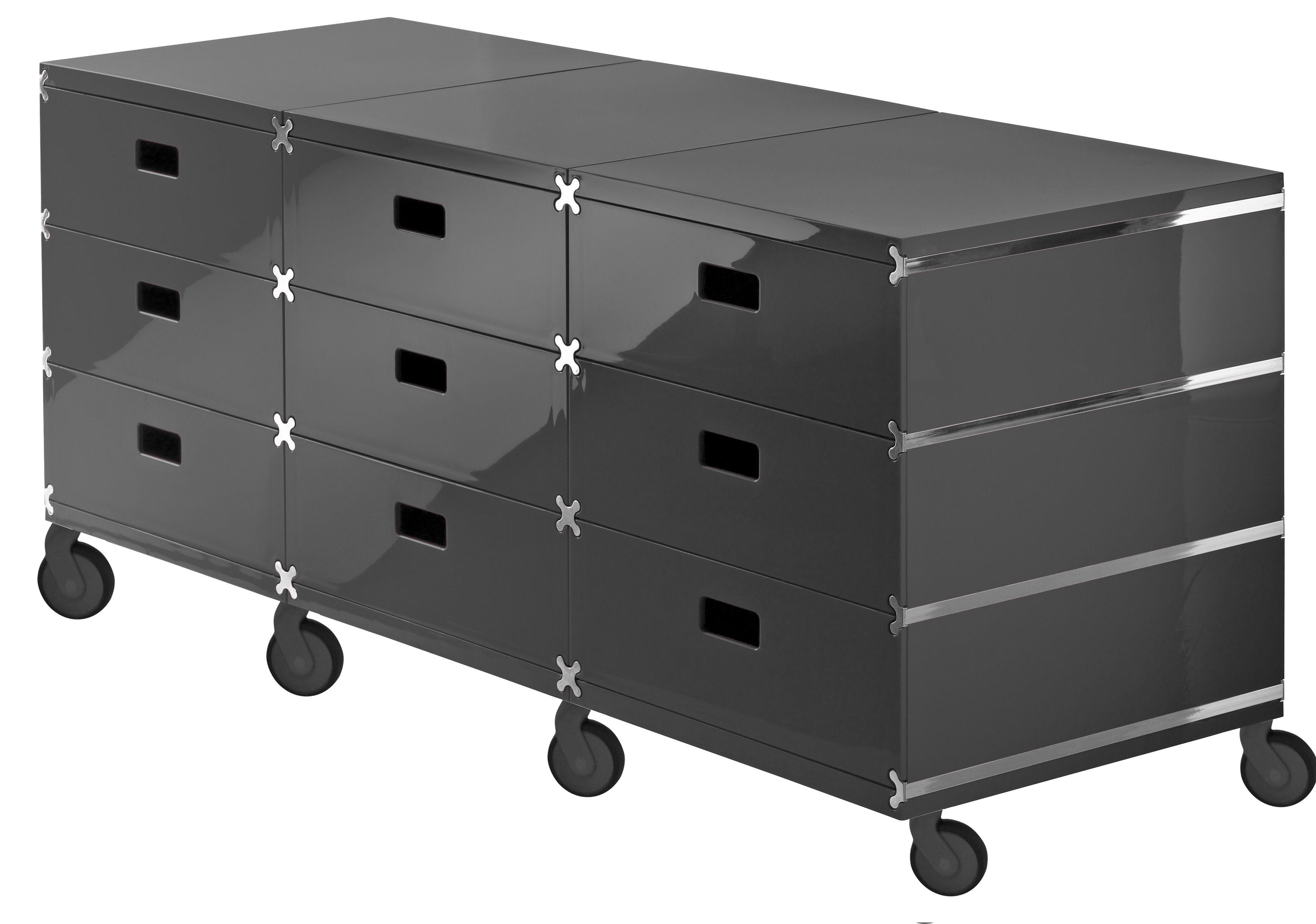rangement plus unit 9 tiroirs sur roulettes gris anthracite magis. Black Bedroom Furniture Sets. Home Design Ideas