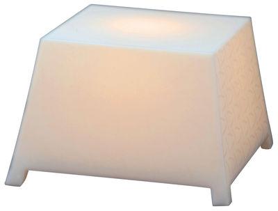 Foto Tavolino luminoso Raffy - Pouf - Outdoor di Qui est Paul ? - Bianco traslucido - Materiale plastico