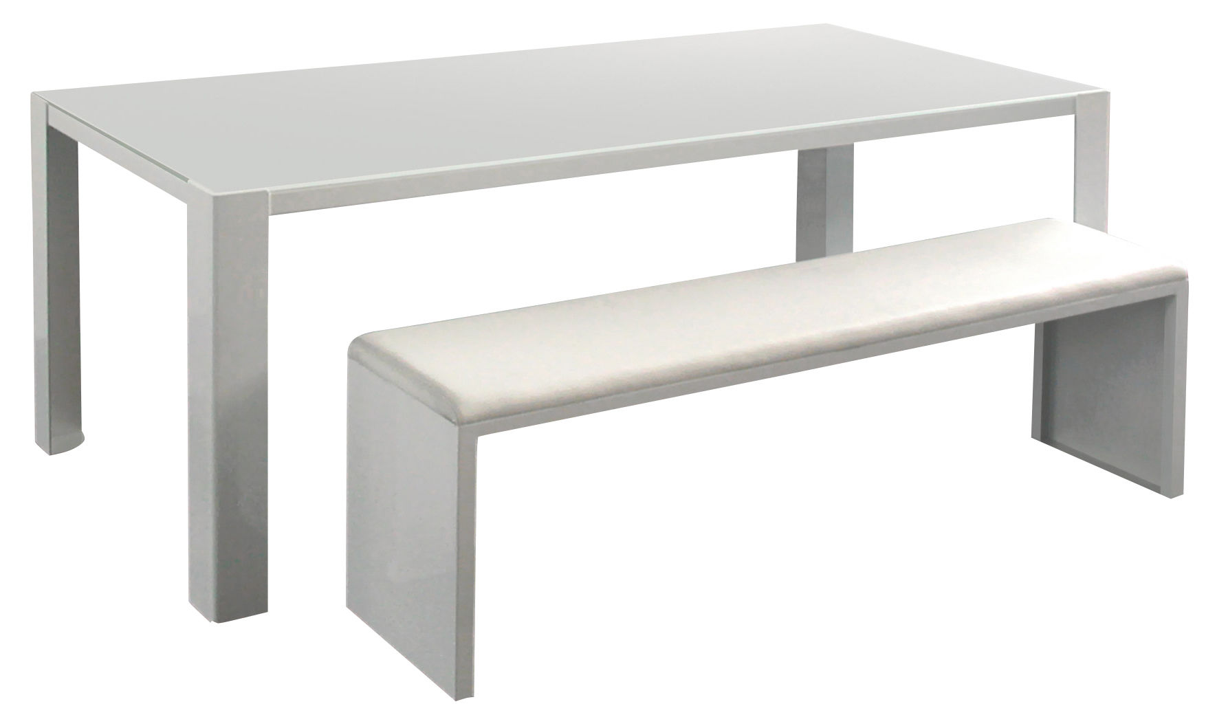 Irony Pad Bench White 160 x 36 cm by Zeus