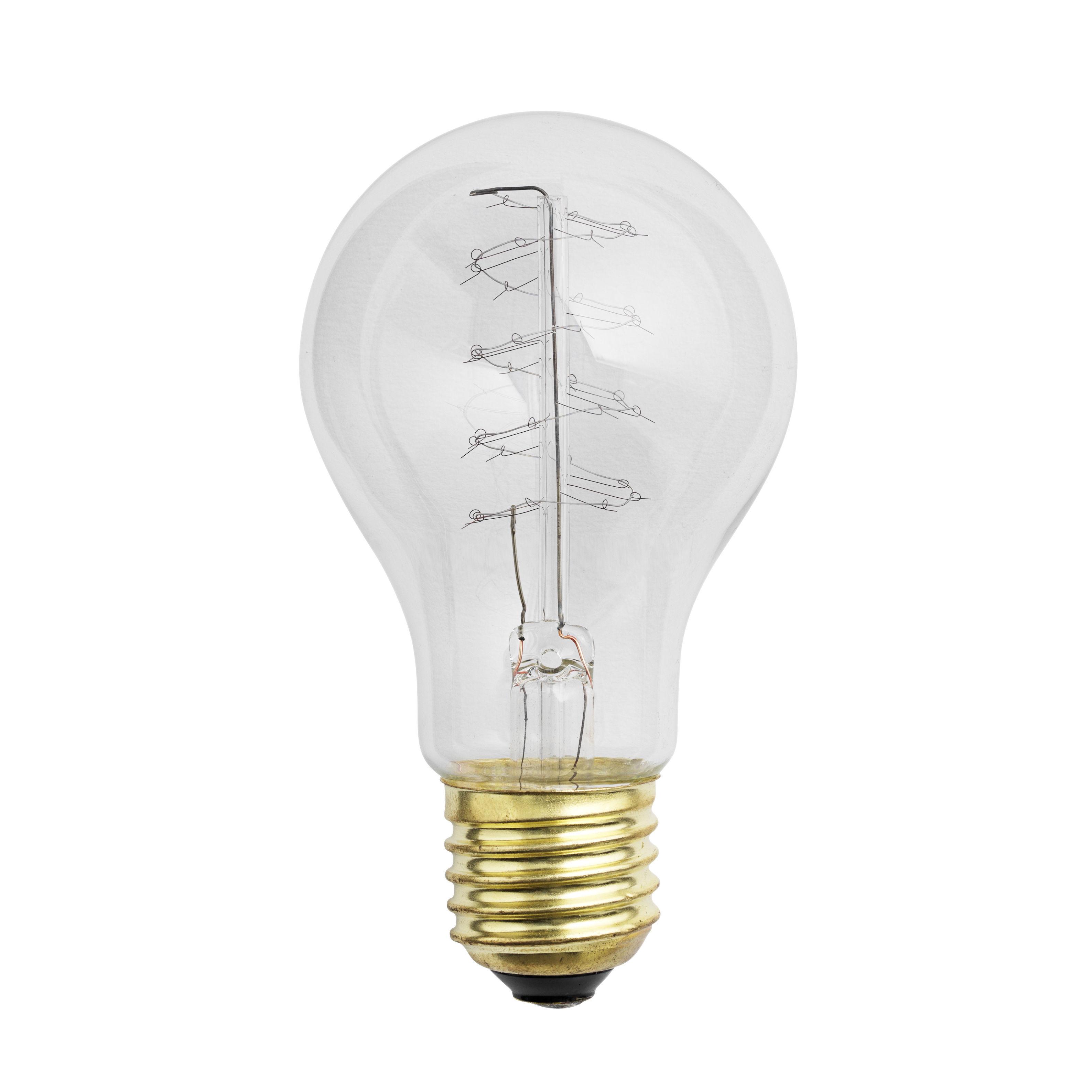ampoule incandescente e27 40w pour lampe de table cosy in grey transparent muuto. Black Bedroom Furniture Sets. Home Design Ideas