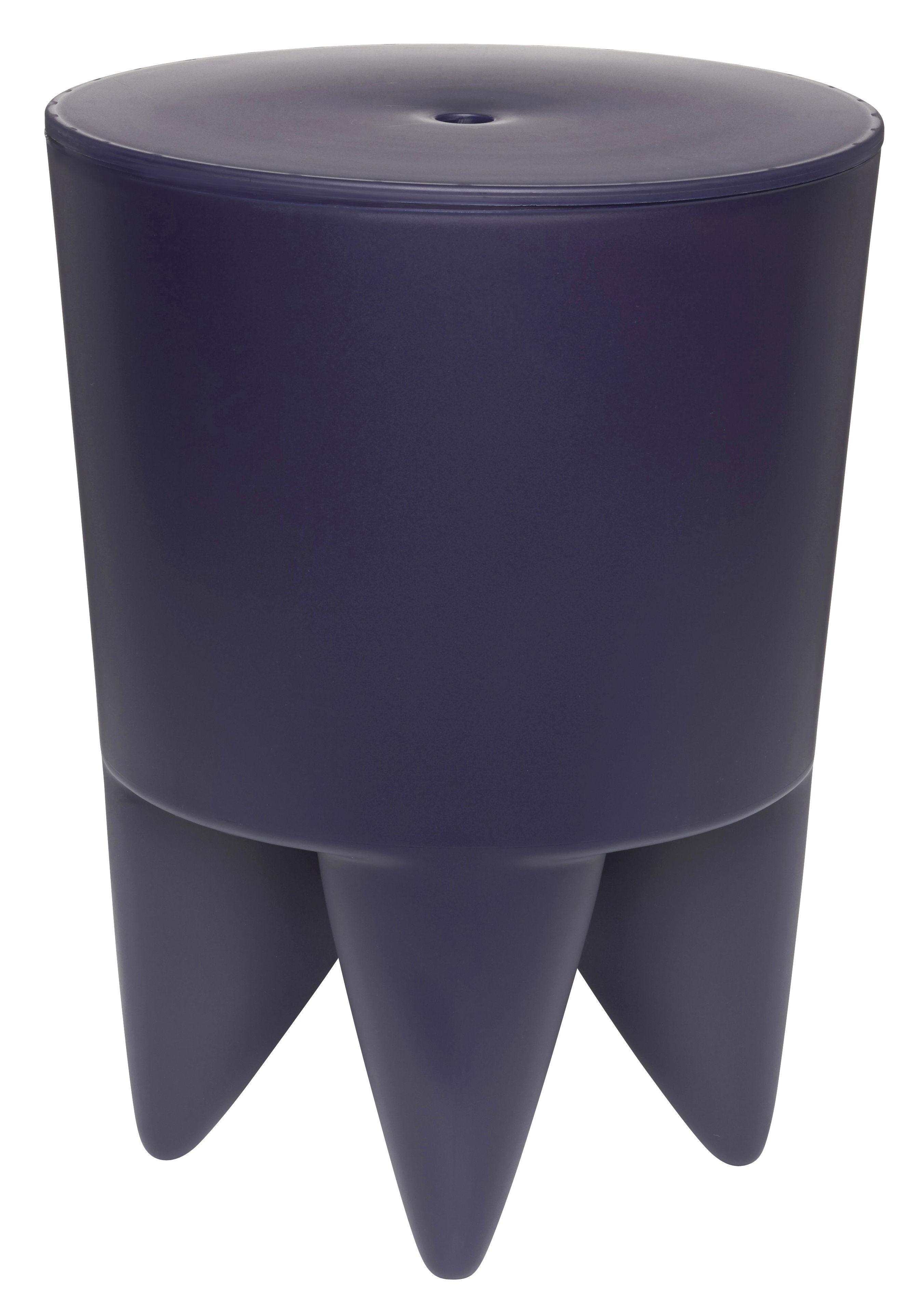 tabouret new bubu 1er coffre plastique marine translucide xo. Black Bedroom Furniture Sets. Home Design Ideas