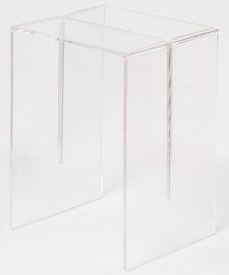Foto Tavolino d'appoggio Max-Beam - / Sgabello - 33 x 27 cm di Kartell - Trasparente - Materiale plastico