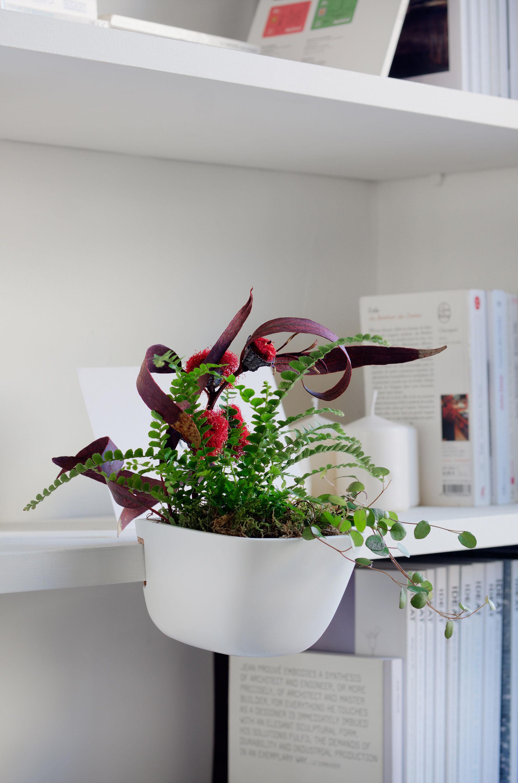 pot de fleurs ho pour tag res et biblioth ques taille s blanc supercraft. Black Bedroom Furniture Sets. Home Design Ideas