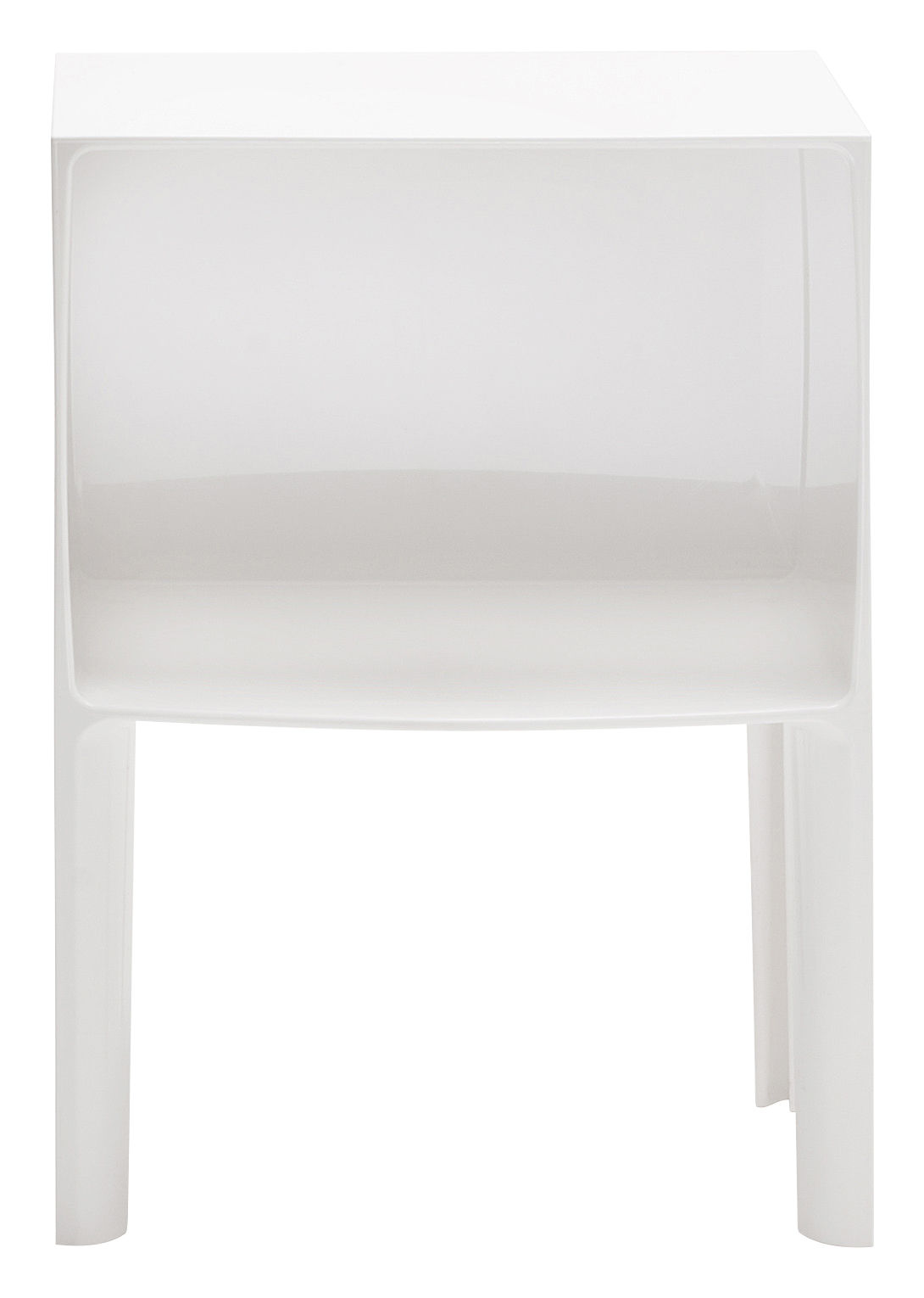 Table de chevet small ghost buster blanc opaque kartell - Kartell table de chevet ...