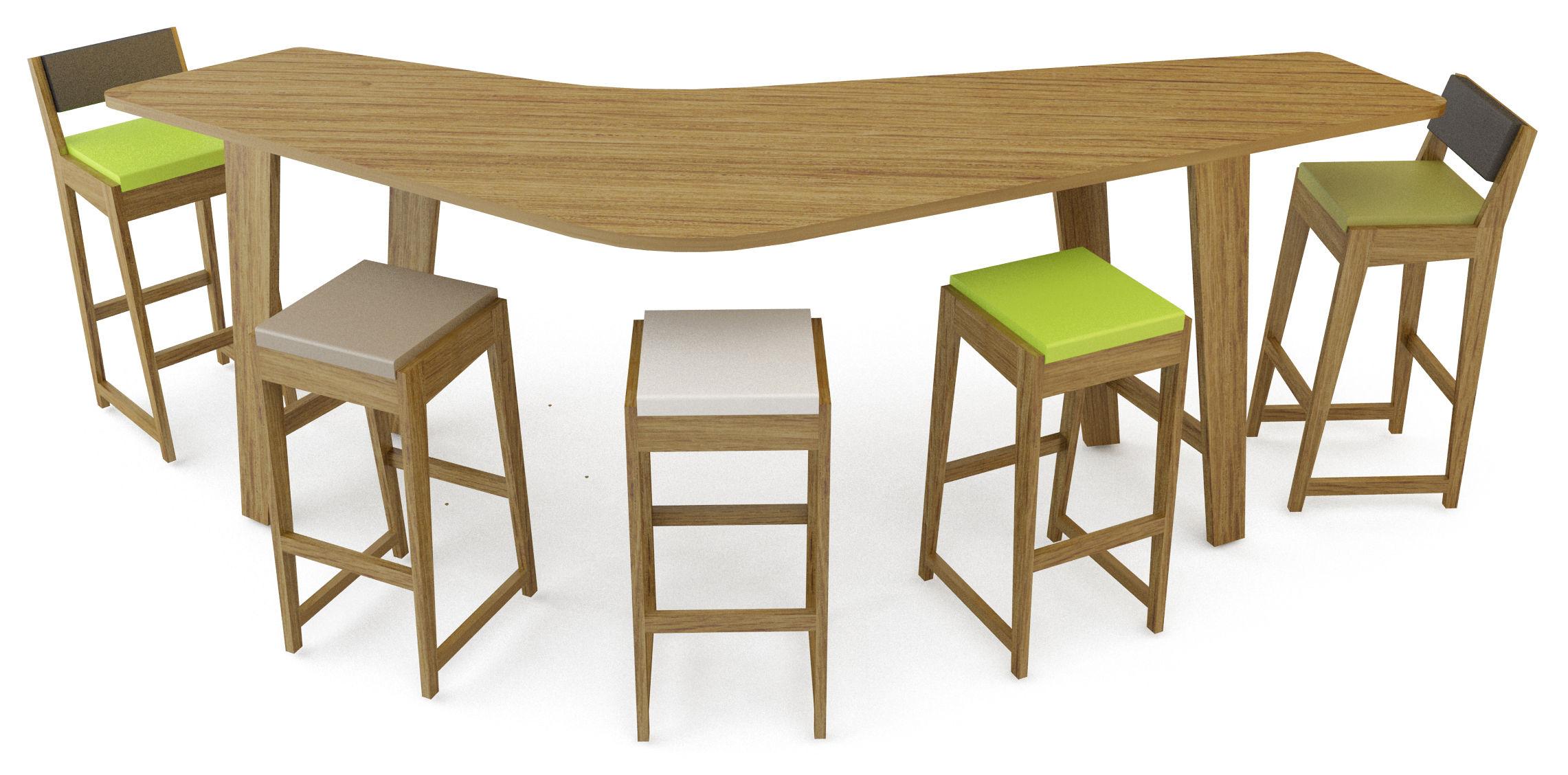 tabouret de bar room 26 h 82 cm bois assise mousse ch ne coussin vert citron quinze. Black Bedroom Furniture Sets. Home Design Ideas