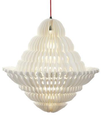 suspension paper lustre 46 x h 70 cm blanc c ble. Black Bedroom Furniture Sets. Home Design Ideas